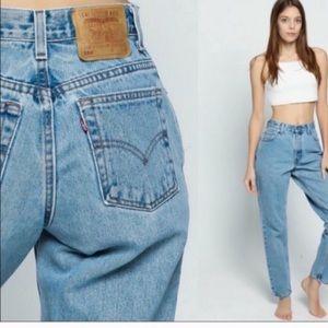 Euc vintage high waist Levi's 550 mom jeans 12M